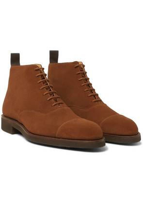 George Cleverley - William Cap-toe Suede Boots - Brown