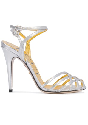 Gucci patent leather sandals - Silver