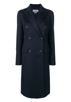 Loewe double-breasted coat - Blue