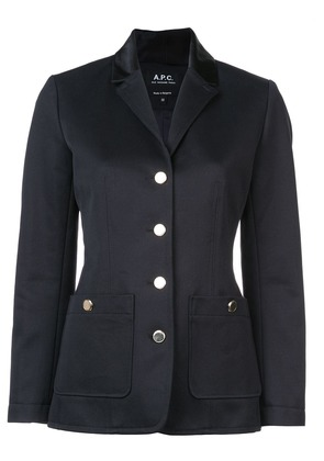 A.P.C. single breasted jacket - Blue
