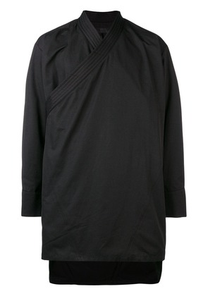 D.Gnak diagonal zip asymmetric jacket - Black