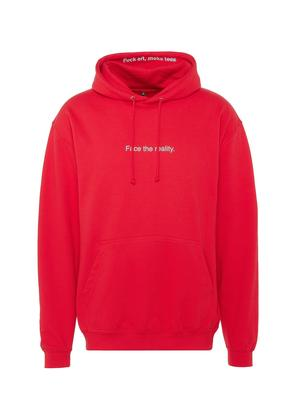 'Face The Reality' print unisex hoodie