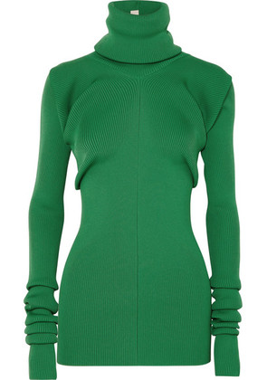 Marni - Ribbed-knit Turtleneck Sweater - Green