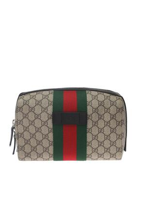 Gucci Make-up bag with a 'Web' stripe