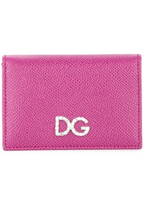 Dolce & Gabbana logo plaque wallet - Purple