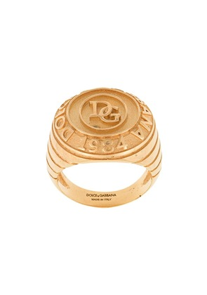 Dolce & Gabbana logo engraved ring - Gold