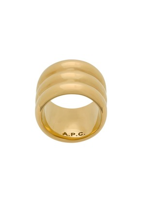 A.P.C. wide band ring - Gold