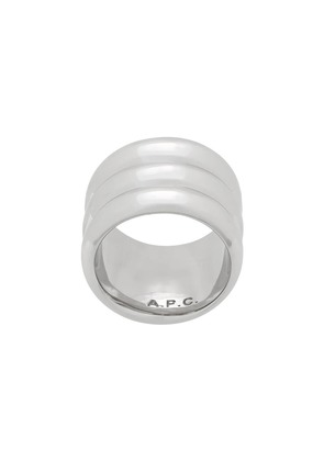 A.P.C. wide band ring - Silver