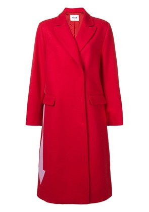 MSGM contrast arrow coat - Red