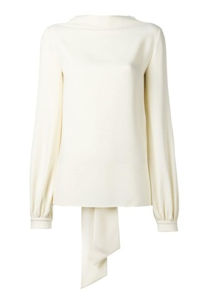 Tom Ford attached scarf blouse - Neutrals