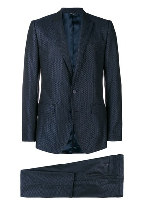 Dolce & Gabbana two piece tailored suit - Blue