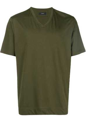 Joseph v neck mercerized jersey T-shirt - Green