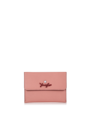 ALBIN Rosewood Grainy Calf Leather Coin Pouch