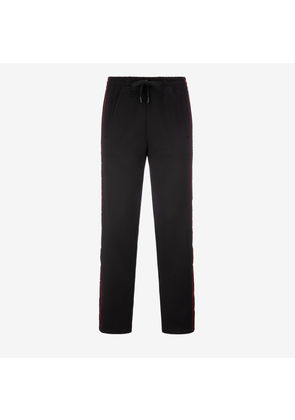 Bally Tracksuit Trousers X Shok-1 Black, Men's techno jersey tracksuit trousers in black