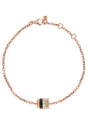 Boucheron - Quatre Classique 18-karat Rose, Yellow And White Gold Diamond Bracelet - Rose gold
