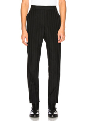 Saint Laurent Striped Trouser in Black,Stripes