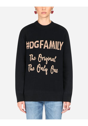 Dolce & Gabbana Knitwear - CASHMERE ROUND NECK SWEATER MULTI-COLORED