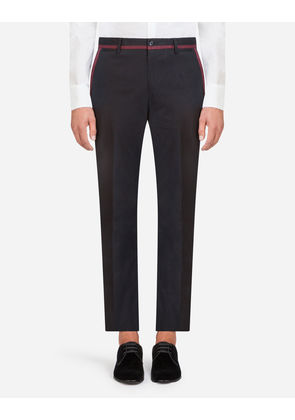 Dolce & Gabbana Trousers - PANTS IN STRETCH COTTON BLUE