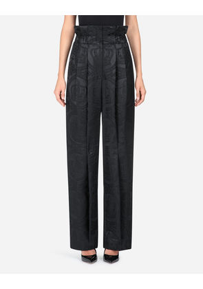 Dolce & Gabbana Trousers and Leggings - JACQUARD PANTS BLACK