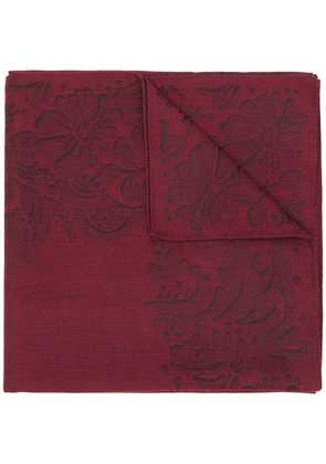 Gabriele Pasini patterned scarf - Red