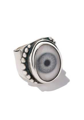The Great Frog beaded eye ring - Unavailable