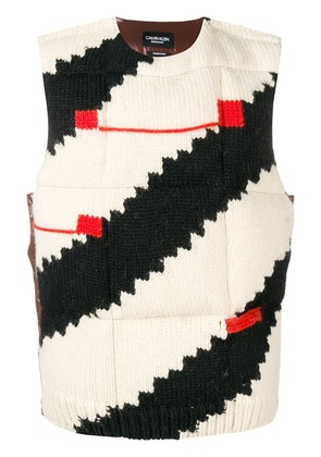 Calvin Klein 205W39nyc knitted padded gilet - Black