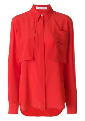 Victoria Beckham chest pockets shirt a - Red