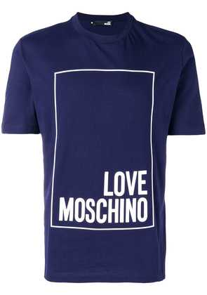 Love Moschino front logo printed T-shirt - Blue