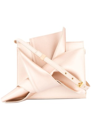 No21 knotted square clutch - Pink