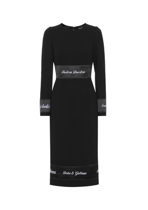 Virgin wool midi dress