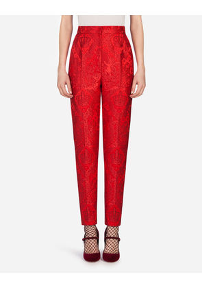 Dolce & Gabbana Trousers and Leggings - JACQUARD PANTS RED
