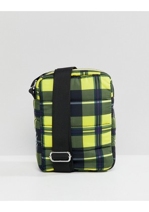 Weekday Padded X-body Bag - Yellow and black ch