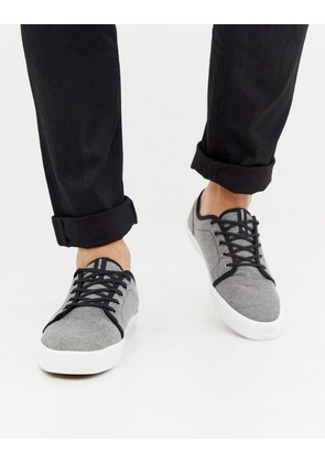 Jack & Jones plimsolls in grey - Grey