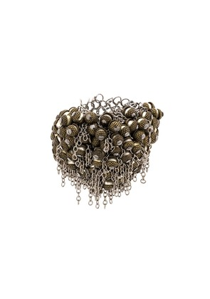 Marc Le Bihan chain embellished ring - Metallic