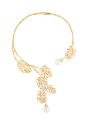 Ingie Paris leaf and pear necklace - Gold