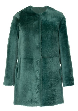 Desa 1972 collarless shearling coat - Green