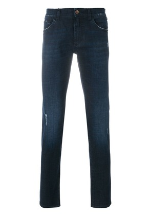 Dolce & Gabbana slight distressed slim fit jeans - Blue