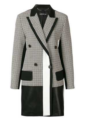 Barbara Bui checked print elongated blazer - White