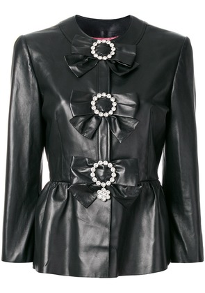 Gucci jacket with bows - Black