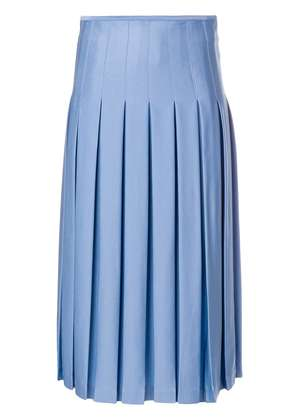Victoria Beckham mid length pleated skirt - Blue