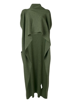 Victoria Beckham Draped Knitted Gilet - Green