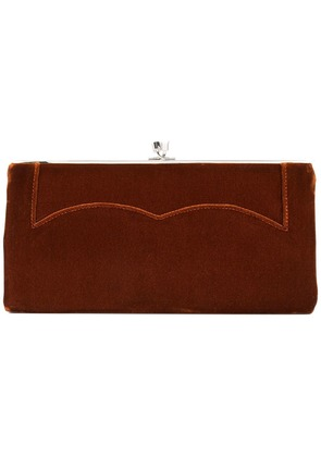 Victoria Beckham pocket clutch - Brown