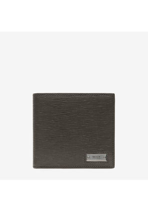 Bally Brasai Grey, Men's calf leather wallet in anthracite