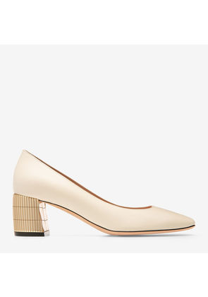 Bally Emily White, Women's calf leather pump with 55mm heel in bone