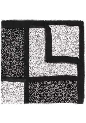 Calvin Klein colourblock monogram scarf - Black