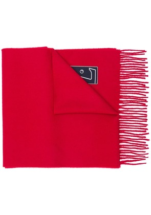 Lanvin classic fringed scarf - Red