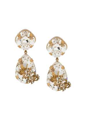Dolce & Gabbana crystal teardrop earrings - Gold