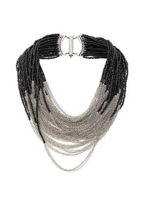Marc Le Bihan bead-and-chain necklace - Black
