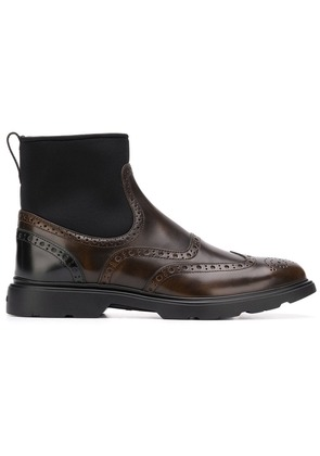 Hogan classic ankle boots - Brown
