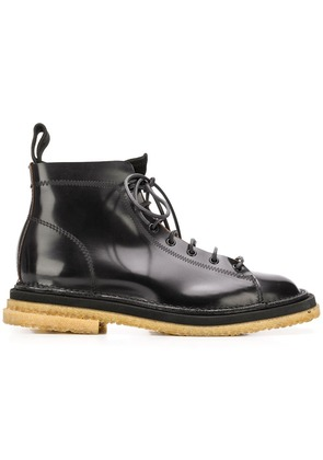 Buttero stitch detailed boots - Black